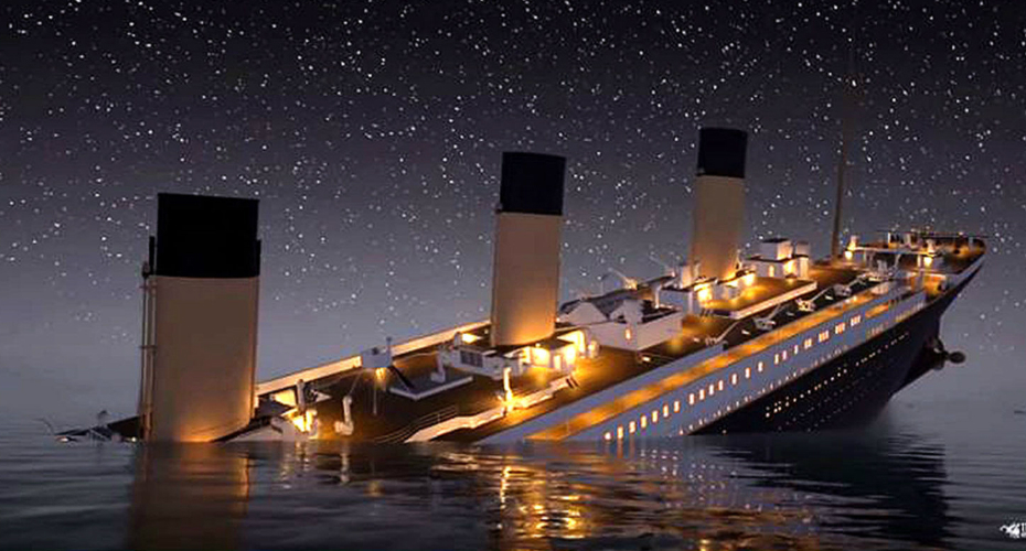 Watch The Titanic Sink In Real-Time 7