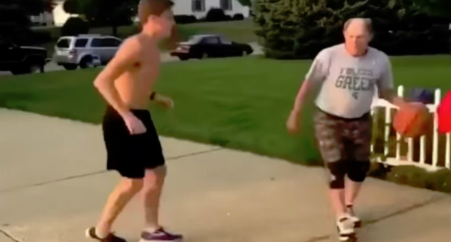 Teen Got Ruthlessly Punked By Old Basketball Man With A Slick Driveway Move 8