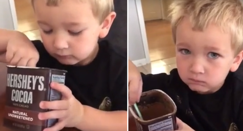 Kid Learn A Very Hard Lesson About 100% Unsweetened Cacao 2