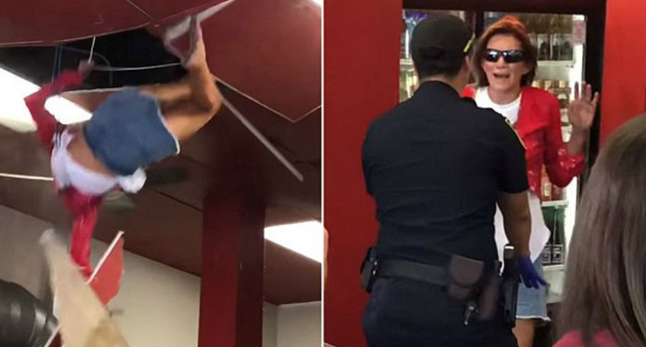 Woman Falls Through Restaurant's Ceiling After Asking To Use Restroom 4