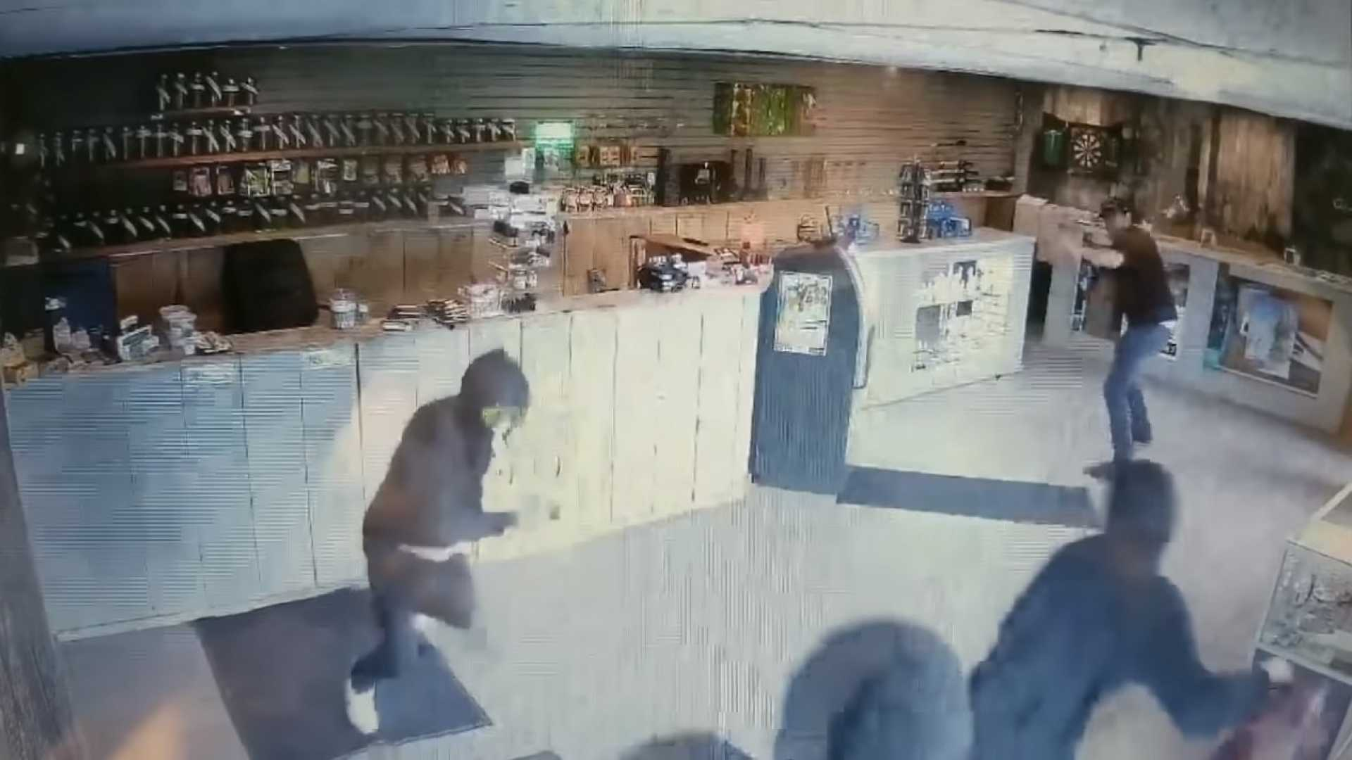Cannabis Shop Worker Fights Off Armed Robbers With Massive Bong 5