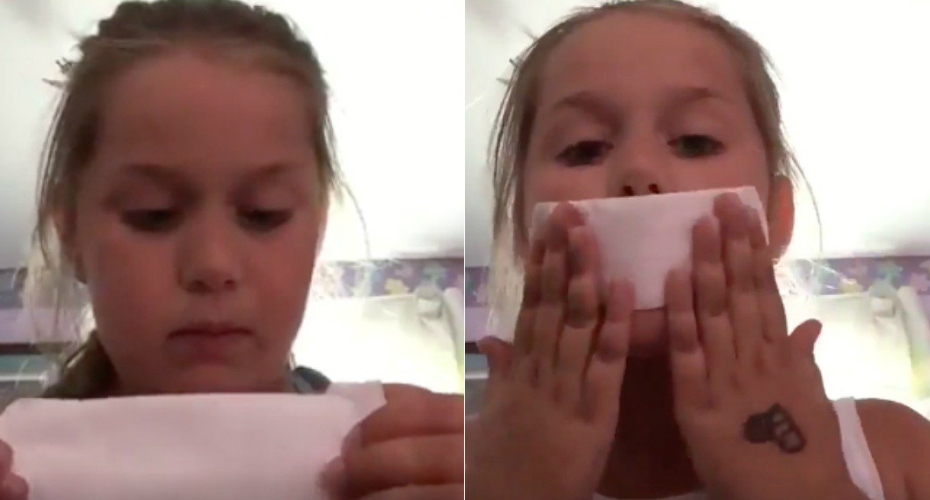 This 8-Year-Old Girl Thought Maxi Pads Were Used For Makeup And It's Hilarious 3