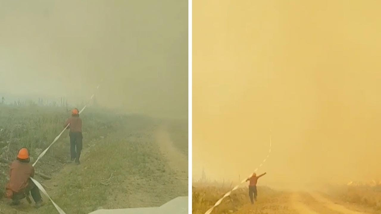 Fire Tornado Pulls Hose 100 Feet In Air 1