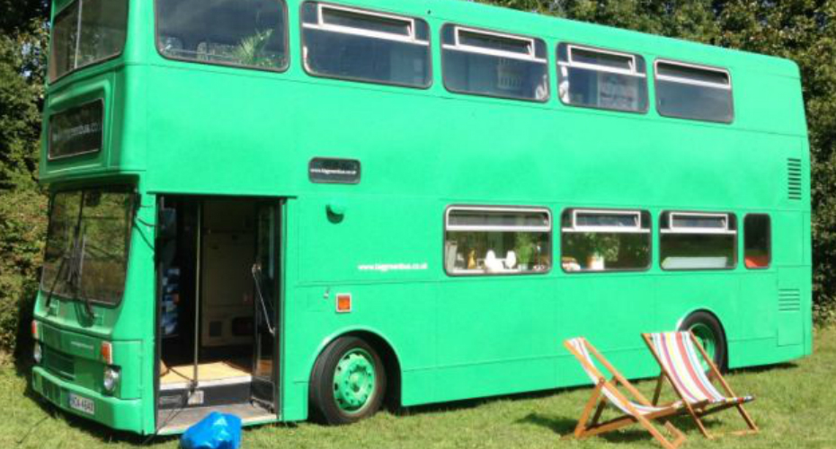 Amazing Dad Builds Clever Double Decker Bus RV 3