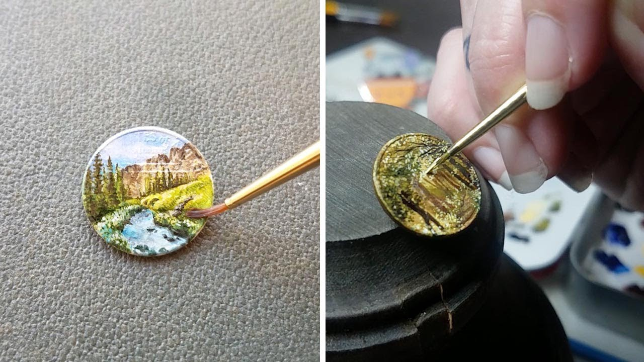 Minimalist Artist Creates Intricate Oil Paintings On Pennies 6