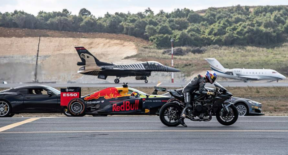 Superbike Beats Fighter Jet, Aircraft, Tesla And F1 Cars At Test Race 9