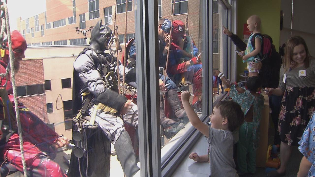 Batman, Superman and The Flash Unite to Make Kids Smile at Iowa Hospital 6