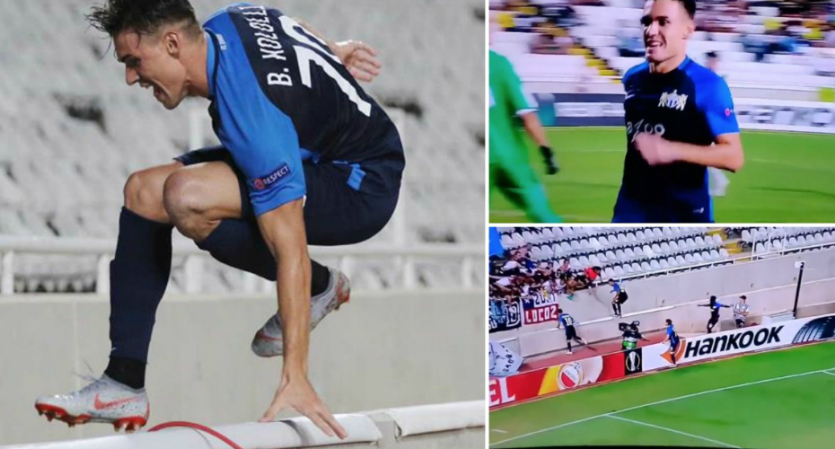 Football Player Jumps Over Wall To Celebrate Winner And It Ends Terribly 4