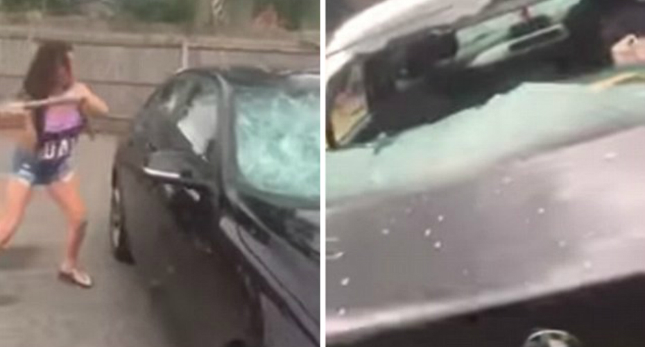 Traveller Wife Smashes Husband's BMW After He Cheated On Her 9