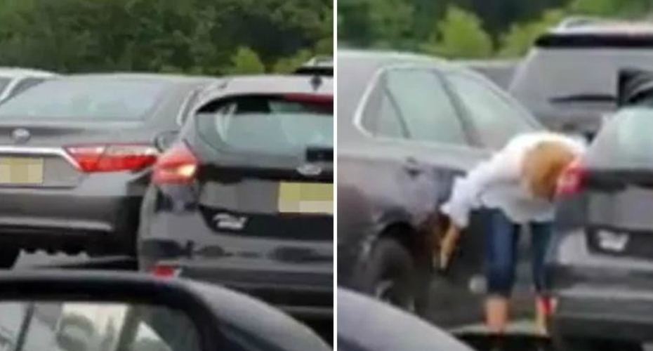 Woman Fails Miserably As She Attempts To Reverse Out Of Parking Spot 9