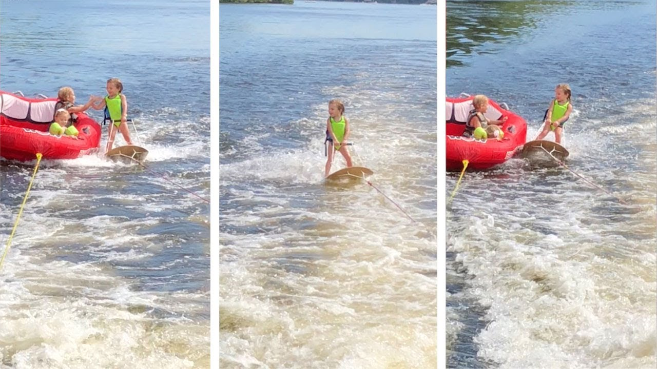 Three Year Old Is Natural Water Skier 1