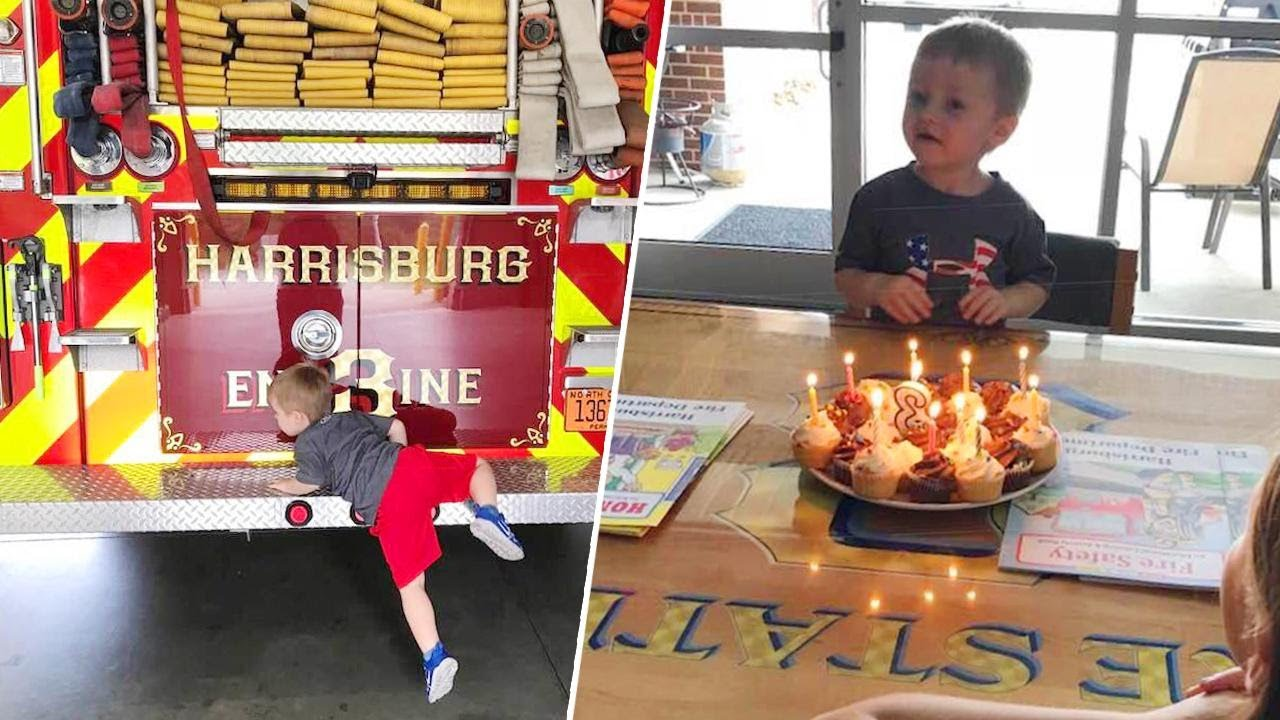 Firefighters Throw Birthday Party for Boy After Guests Cancel 4