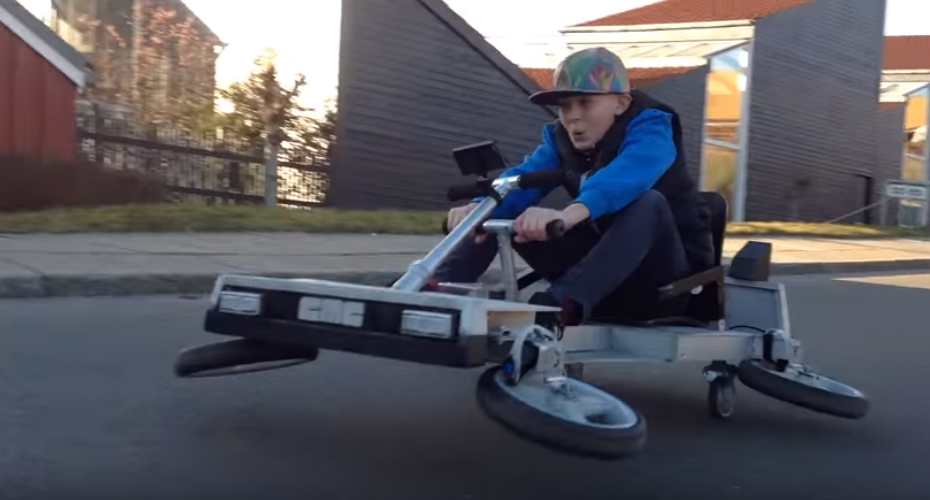 Kid Build His Own Go-Kart with Cool 'Back to the Future' Feature 1