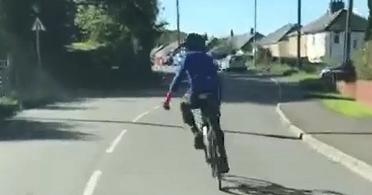 Cyclist Weaves In Front Of Van To Stop Driver Overtaking Him 6