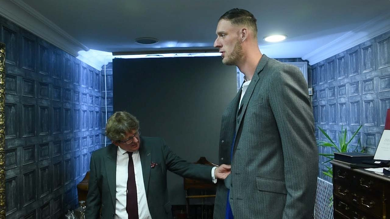 UK's Tallest Man Get Measured For Suit For The First Time In His Life 9