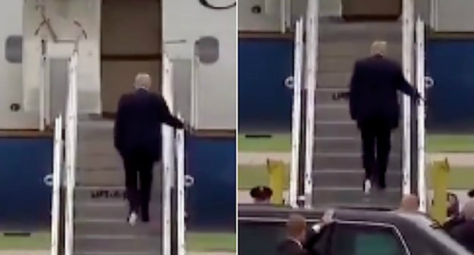 Video Of Donald Trump Boarding Plane With Toilet Paper Stuck To Shoe Goes Viral 5