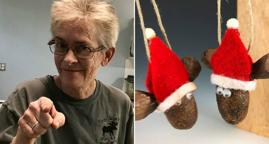 Woman Uses Moose Poop For Artwork 4