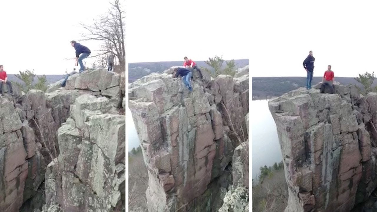 Daredevil Narrowly Avoids Slipping Off 100ft Cliff-Edge 8