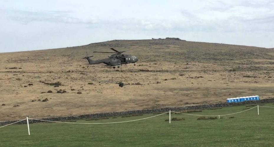 Toilet Takedown: Royal Navy Helicopter Obliterates Portaloos 9