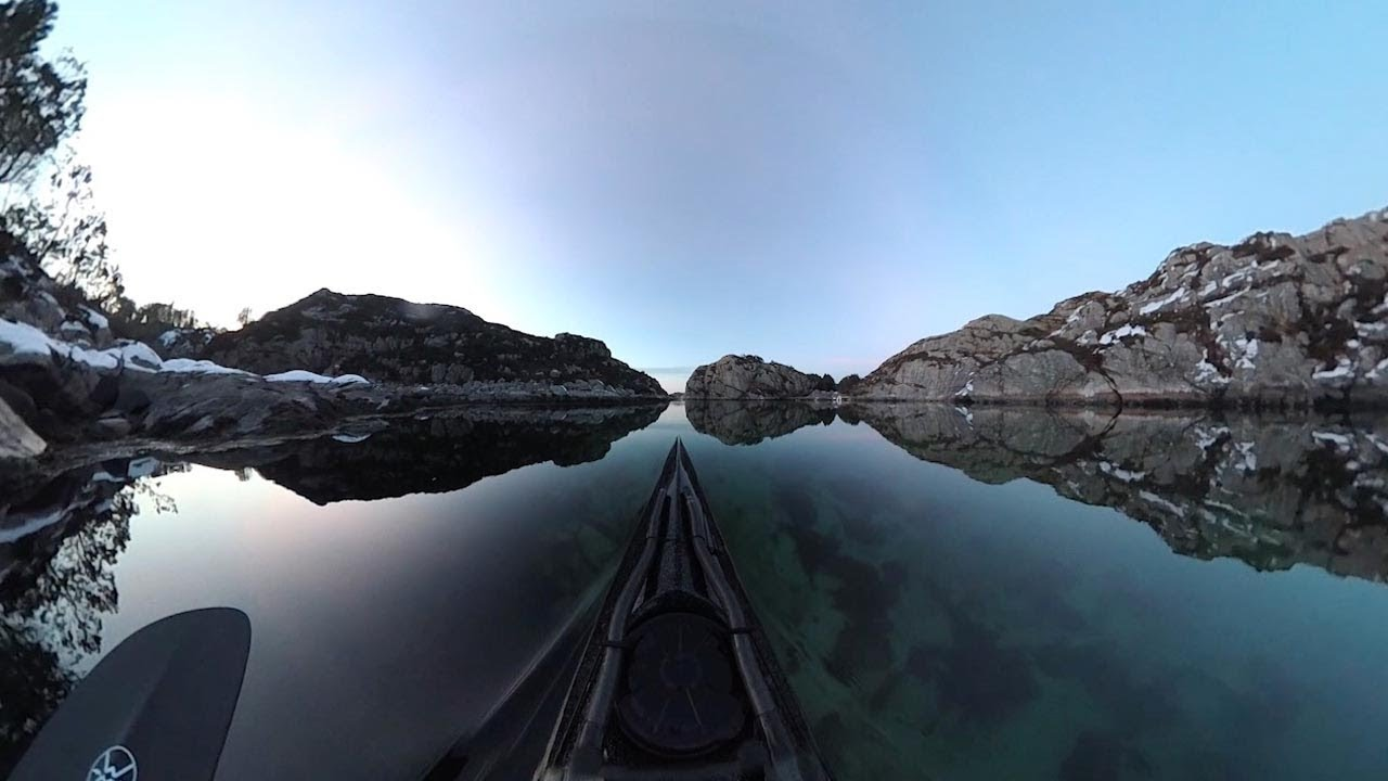 POV Shots From Kayak Show Beautiful Norwegian Fjords 8