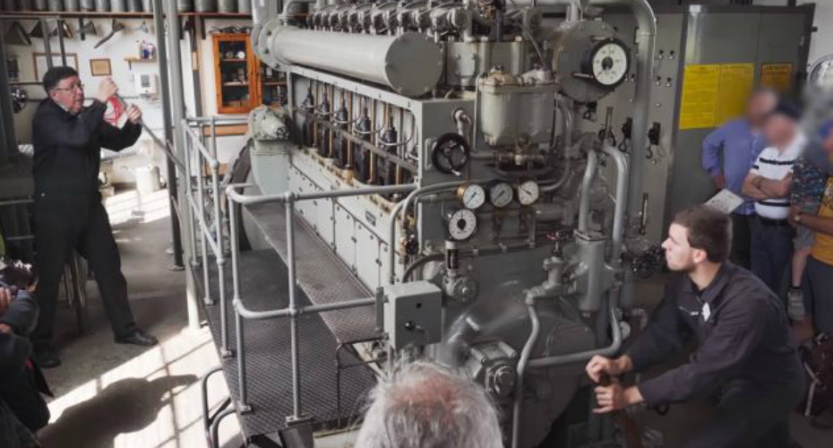 Start Up Of A WW2 Submarine Diesel Engine Of A German U-Boat 3