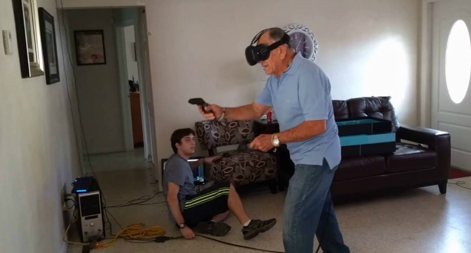 81-year-old Man Goes On a Rampage While Playing VR Game! 7