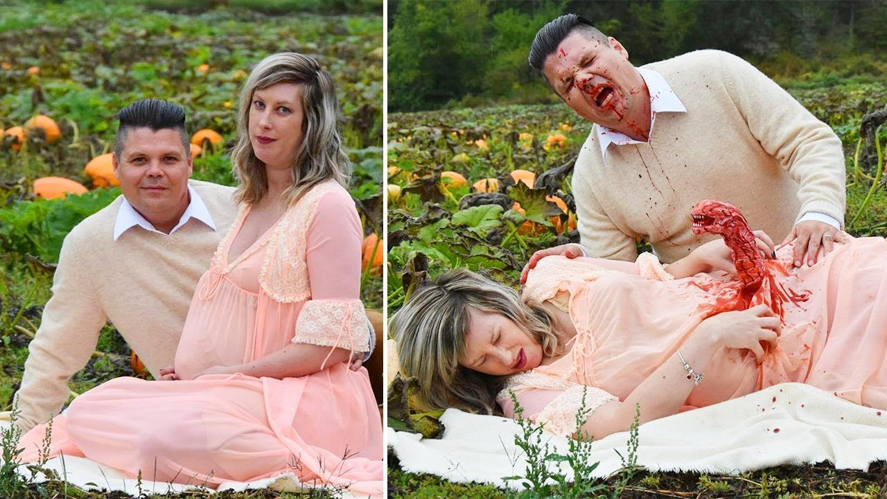 Canadian Couple Stages Grisly and Hilarious 'Alien'-Themed Maternity Shoot 2
