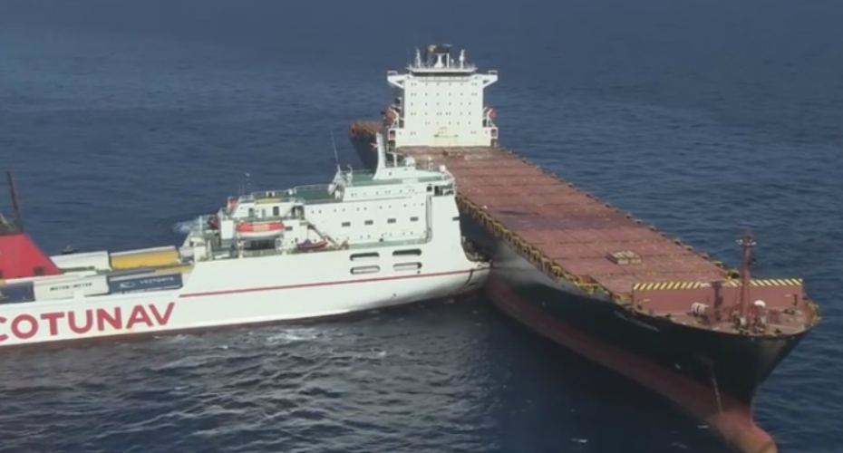 Two Massive Freight Ships Collided At Open Sea 4
