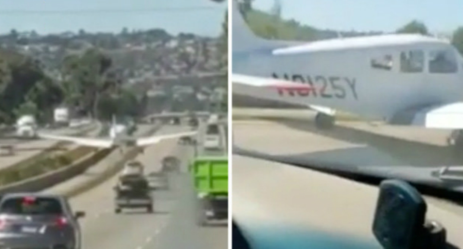 Airplane Makes Emergency Landing On Freeway 7