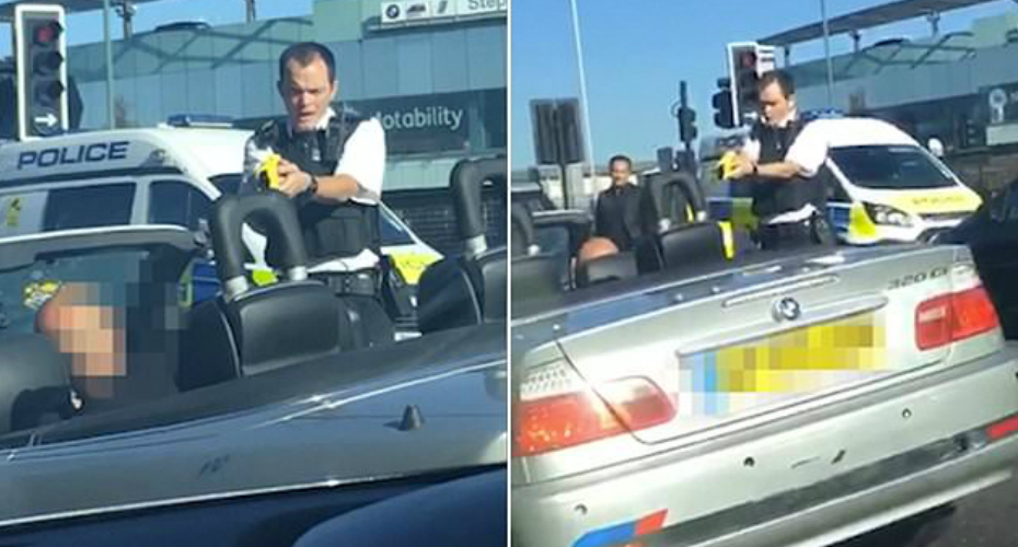 Police Taser Man Who Smashed Up His Own BMW With Baseball Bat 2