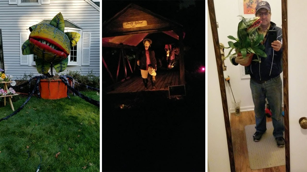 Halloween Fanatic Spends 3yrs Creating 10ft Tall Little Shop of Horrors Plant 3