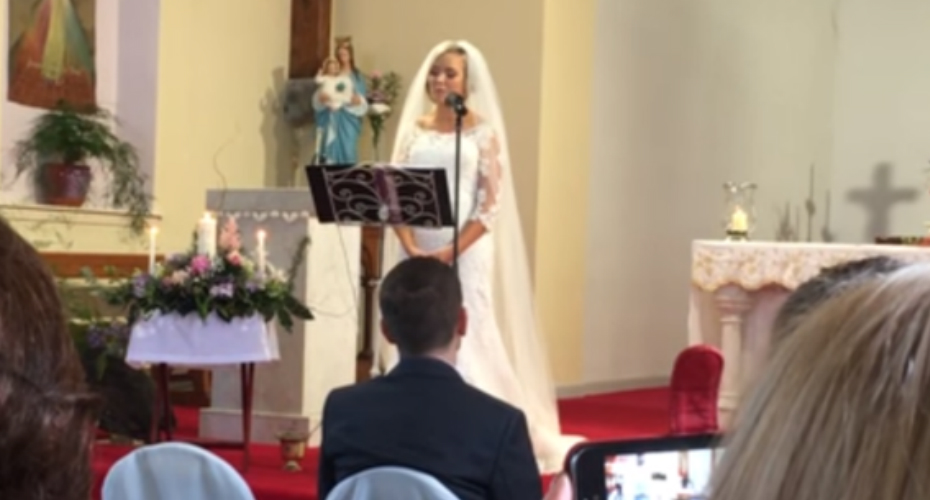 Bride Sings Beautiful Version Of The Prayer To Her New Husband 3