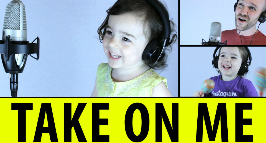 "Dad And 3-Year-Old Cover A-Ha's ""Take On Me"" With Adorable Perfection 9"