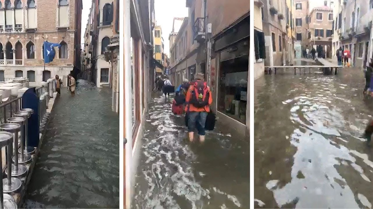 Marathon Runners Race Through Flooded Venice 9