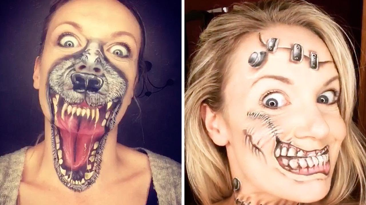 Horror Fan Creates Scary Halloween Makeup 4