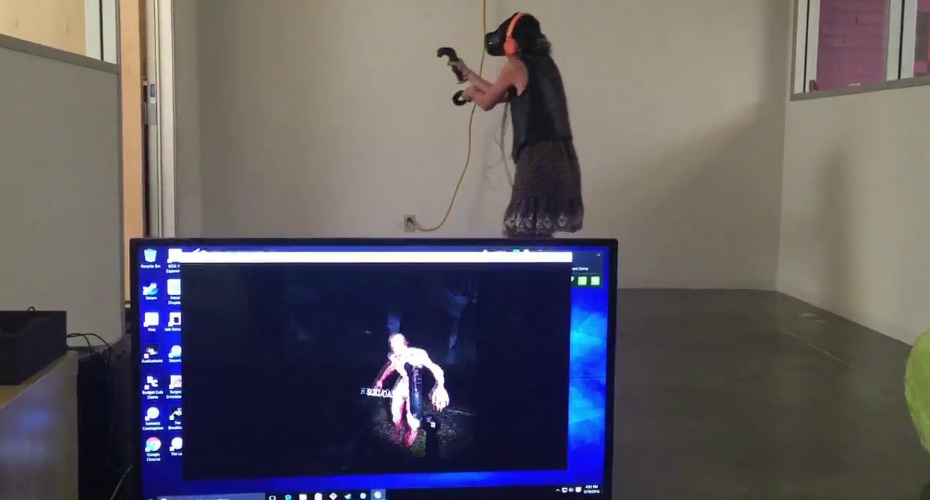 Virtual Reality Zombies Completely Freak Out Player 2