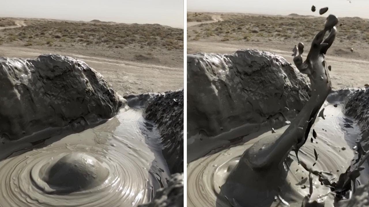 Incredible Close Up Of Mud Volcano 9