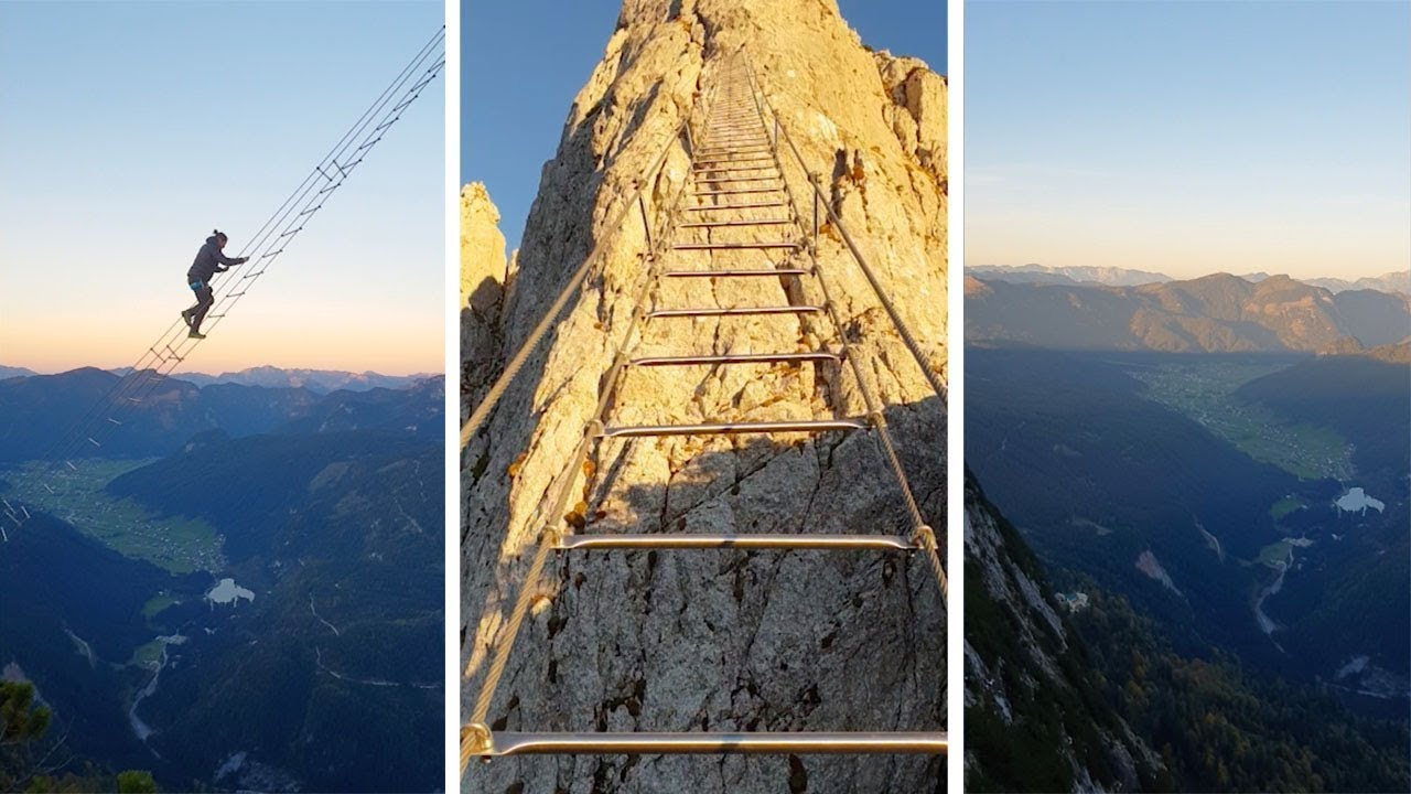 Huge Ladder Between Mountains Looks Like Stairway To Heaven 7