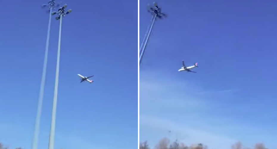 Passenger Airplane Appears 'Stuck' In Mid-Air 4