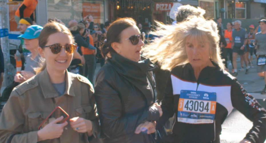 New Yorkers Trying To Cross The Street During The NYC Marathon 7