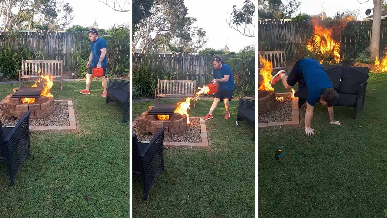 Man Accidentally Sets Fire To Garden Trying To Kill Bug 2