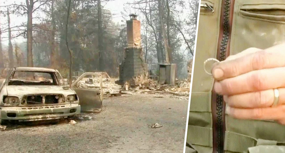 Man Finds Wife's Wedding Ring After Home Burns to Ground in California Wildfire 1
