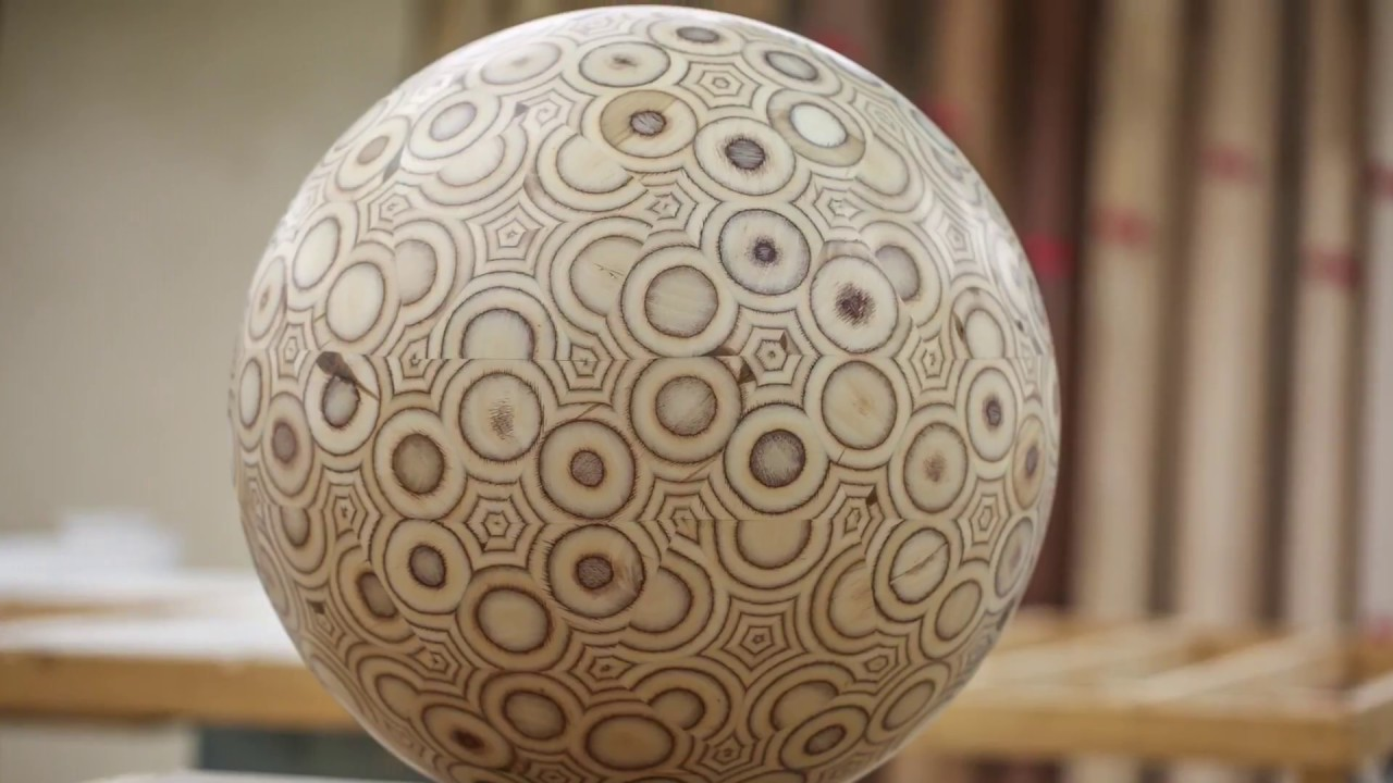"This Guy Makes A 19"" Sphere Out Of Plywood 1"