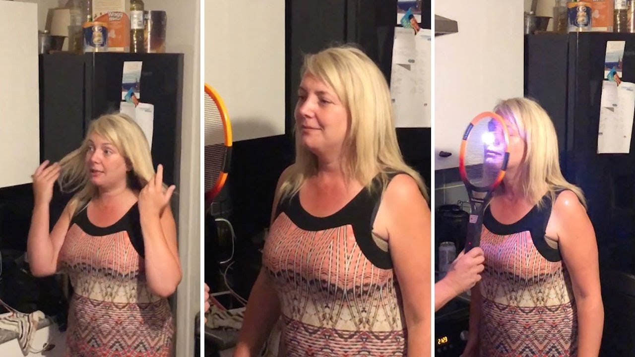 Hilarious Moment Woman Is Zapped With Fly Swat 7