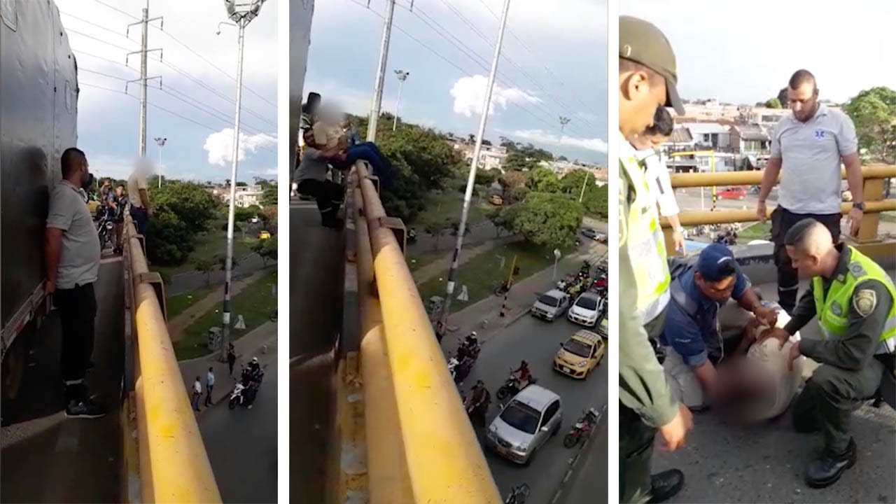 Hero Paramedic Pulls Man About To Jump From Bridge 6