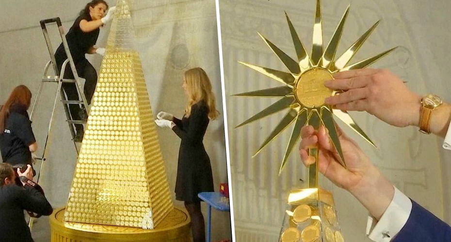 $2.6 Million Christmas Tree Made of Gold Said to be Europe's Most Expensive 3
