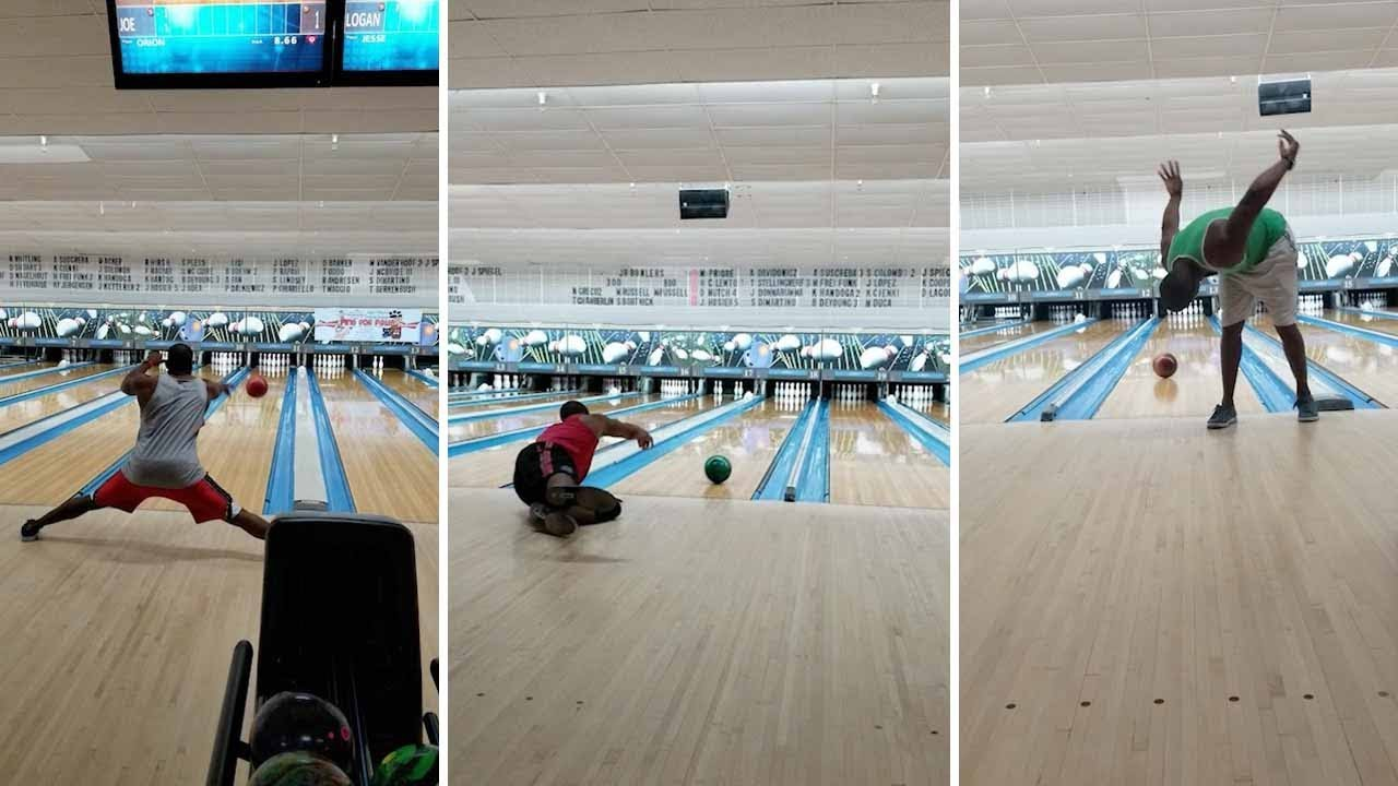 Guy Performs Incredible Trickshots Using Bowling Ball 3