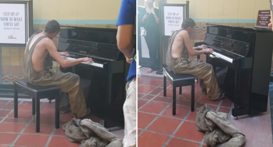 Homeless Man Is Amazing At Piano 7