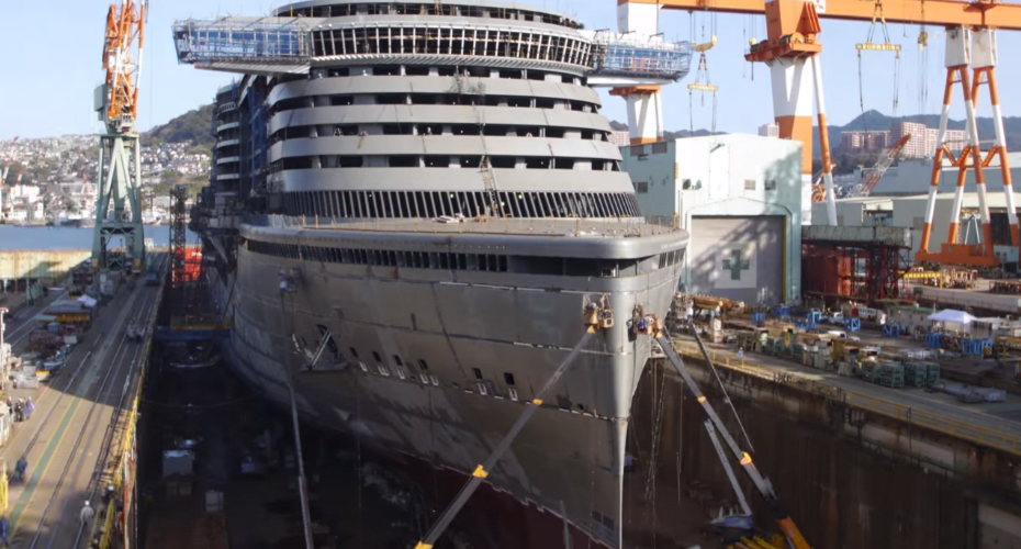 Stunning Timelapse Shows £450m Cruise Ship That Can Carry 3,300 Passengers 1