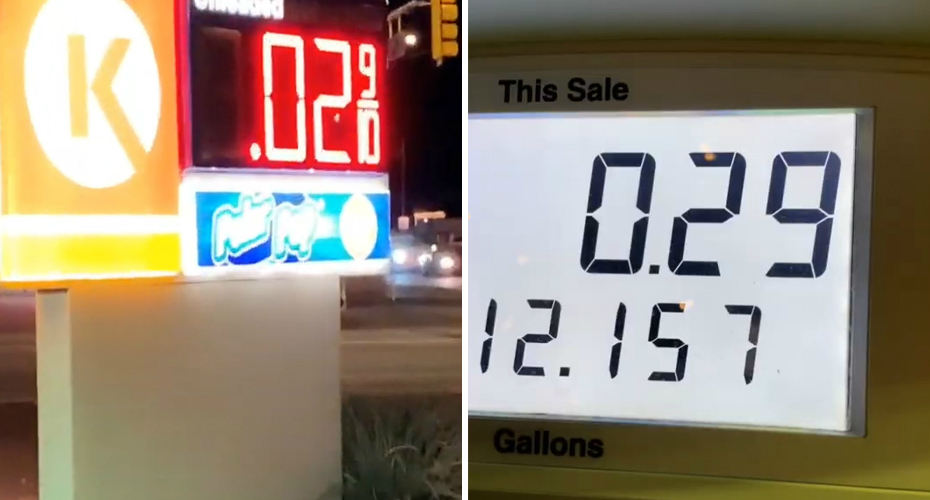 Woman Pays 29 Cents For Full Tank Of Gas 2